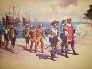 Колумб причаливает к берегу